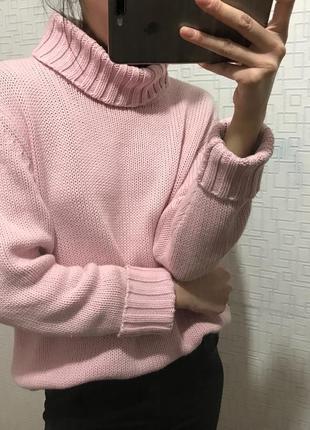 Розовый свитер свитшот кофта кардиган джемпер реглан