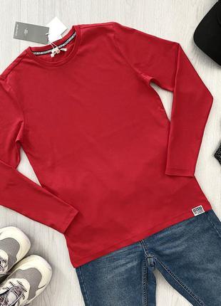 Красный подростковый реглан кофта лонгслив для мальчика piazza italia италия