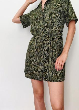 Трендовое платье рубашка  с красивым поясом новые коллекции