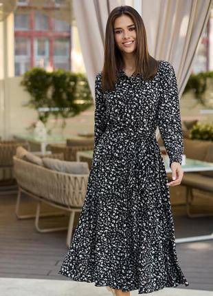 Очень красивое и нежное платье-миди в цветочный принт