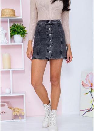 Бомбезные юбки на пуговках трапеция джинсовая xxs xs s m l xl