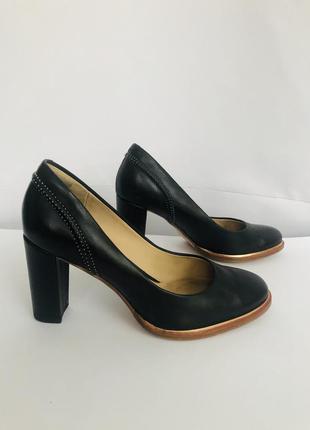 Туфли натуральная кожа классика clarks черные классические офис модные стильные кожа