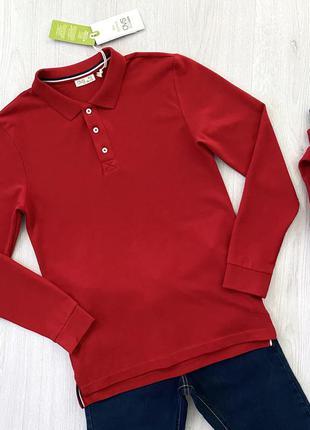 Красный подростковый реглан поло для мальчика ovs kids италия