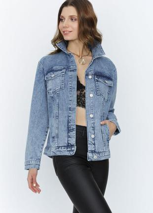 Джинсовка в стиле  кэжуал/джинсовый пиджак  oversize