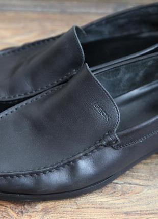Фирменные кожаные туфли-мокасины geox