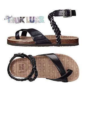 Muk luks оригинал сандалии стильные босоножки гладиаторы бренд из сша