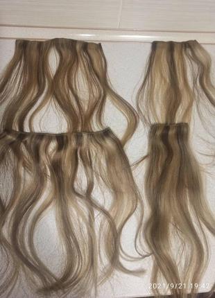 Натуральный волосы на тресах для наращивания