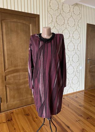 Тёплое итальянское платье туника  бохо с карманами супер качество