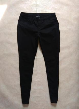 Cтильные черные джинсы скинни с высокой талией yessica, 14 размер.