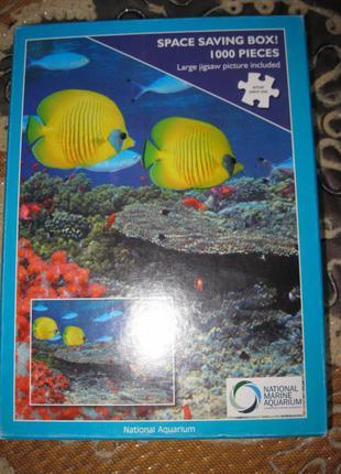 """Пазлы""""jigsaw"""" 1000 шт. national aquarium"""