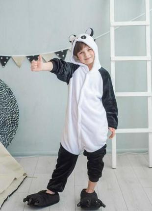 Детский комбинезон кигуруми панда