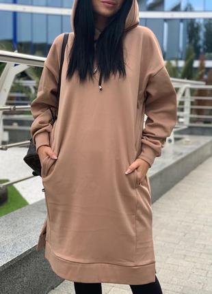 Платье-худи удлиненное 42-58 р-р