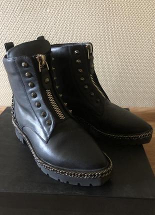 Кожаные ботинки fellini