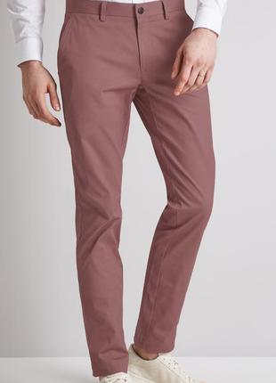 Шикарные котоновые стильные брюки  m&s.