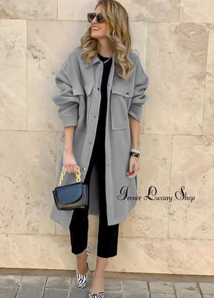 Шерстяное пальто  рубашка zara  m-l