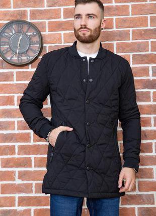 Демми куртки стеганые удлинённая для стильного мужчины ,темно синяя ,чёрная -s m l xl