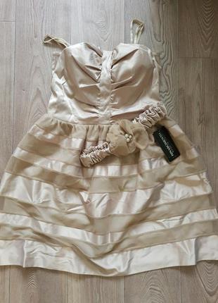 Платье атласное италия