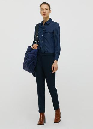 Max&co новые брюки , укороченная модель с манжетом, размер s