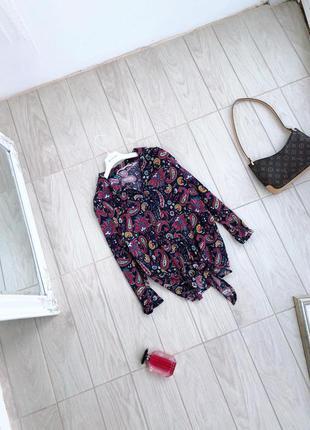 Блуза в трендовый принт tu блузка вискоза