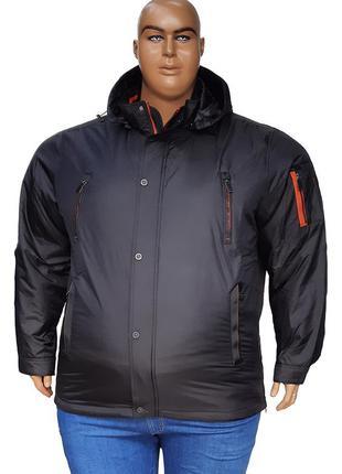 Осенняя непромокаемая куртка большого размера с капюшоном