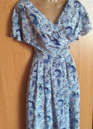 Невероятно красивое платье с пышной юбкой в стиле ретро винтаж цветочный принт