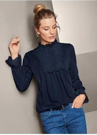 Блуза комбинированная х\б tchibo 52-54 р.
