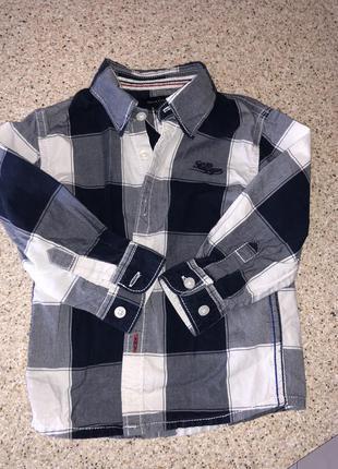 Рубашка tommy hilfiger 12-18 мес, состояние новой оригинал