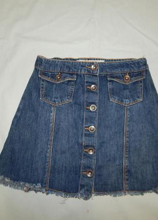 Юбка джинсовая модная трапеция на 11/12 лет рост 152 см