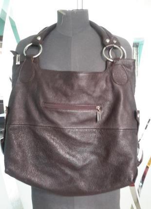 Кожаная сумка цвет шоколад