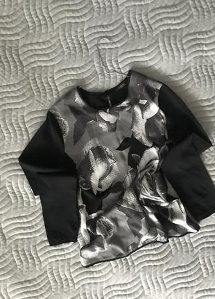 Стильна блузка на довгий рукав