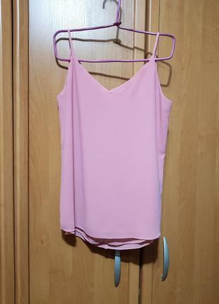 Стильная лёгкая пудровая маечка, персиковая майка-блуза