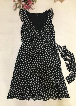 Платье в горошек хл
