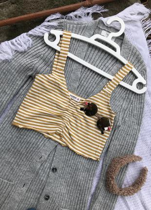 Топ топік топы ідеальний полосатий майка маєчка футболка