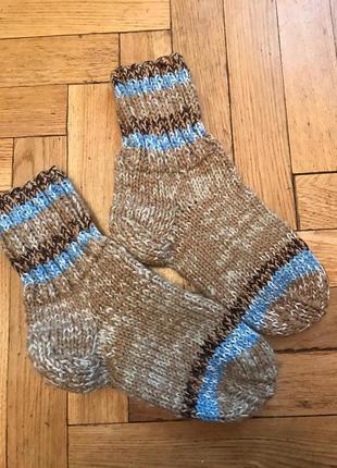 Теплые, вязаные носки,ручная работа,шерсть