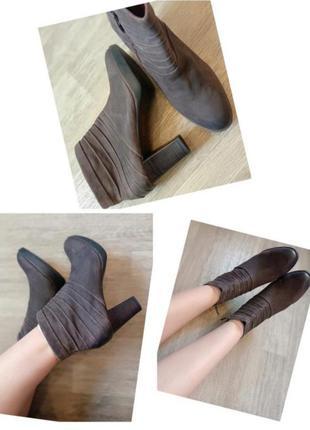 Ботинки натуральная кожа устойчивый каблук tamaris