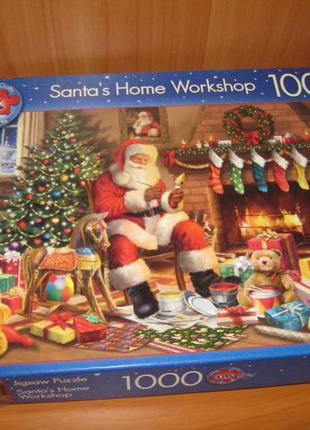 """Пазлы """"jigsaw"""" 1000 шт. """"santas home workshop"""""""