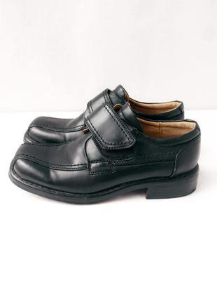 В школу! стильные детские туфли из кожзама agaxy. размер 34.