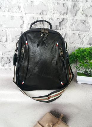 Женский кожаный рюкзак шкіряний жіночий портфель сумка шкіряна кожаная
