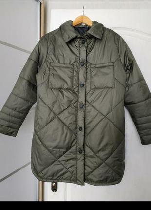 Куртка рубашка, курточка пуффер, оверсайз