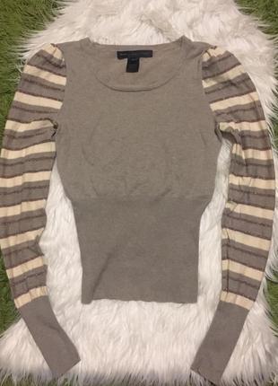 Тонкий свитер люрекс кашемир хлопок marc jacobs xs