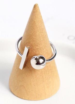 Посеребренное кольцо геометрия / большая распродажа!