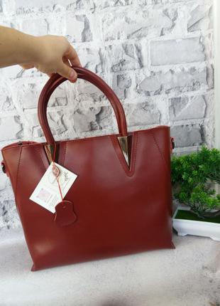 Женская кожаная сумка жіноча шкіряна сумочка а4