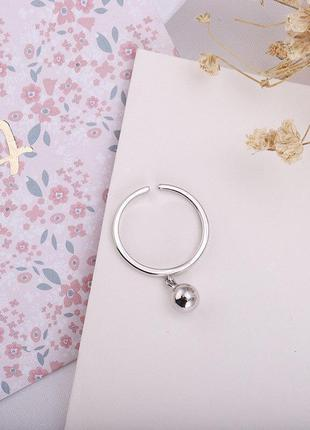 Кольцо с подвеской минимализм серебро 925 / большая распродажа!