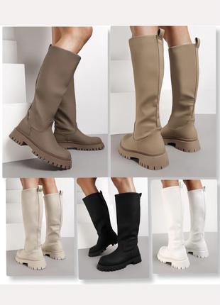 5️⃣ цветов матовые сапоги трубы франция 🇫🇷 матові чоботи