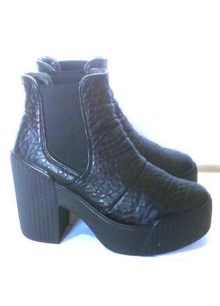 Эффектные ботильоны / ботинки челси от бренда topshop, р.35-36 код b3609