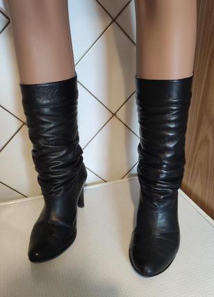 Сапоги ботинки натуральная кожа.