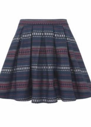 Новая юбка из плотной ткани в ацтекский принт new look