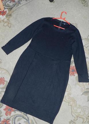 Тёплое,трикотажной вязки платье по фигуре,большого размера