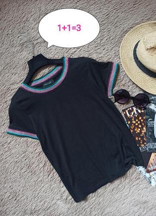 Красивая чёрная футболка/кофточка/топ