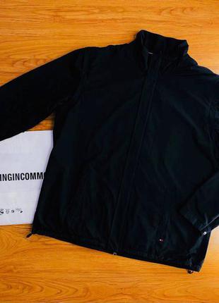 Мужская черная куртка- жилетка tommy hilfiger